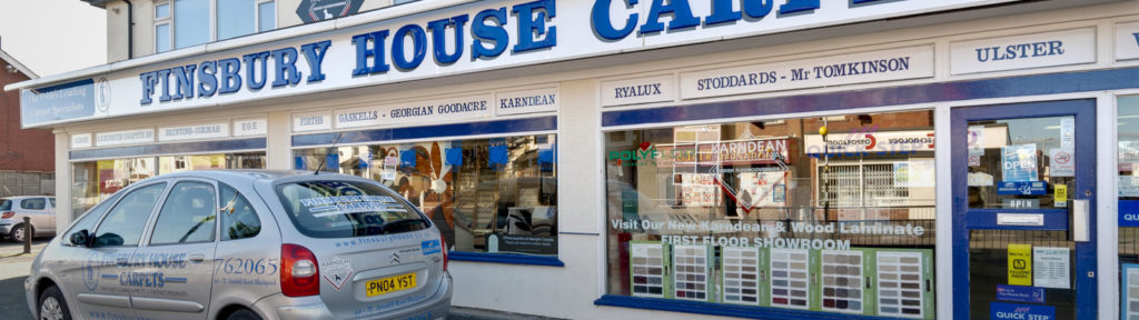 Finsbury House Carpets, Beds and Flooring - Shop Front
